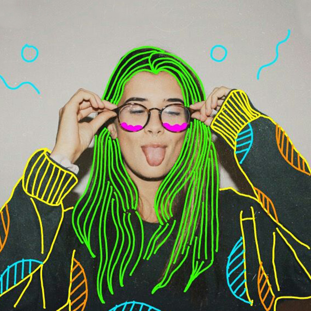 Trace a photo with neon colors, and we'll be burning up like neon lights. (Image by @chuchy )