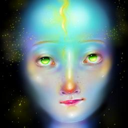 wdpneon painting portrait freetoedit