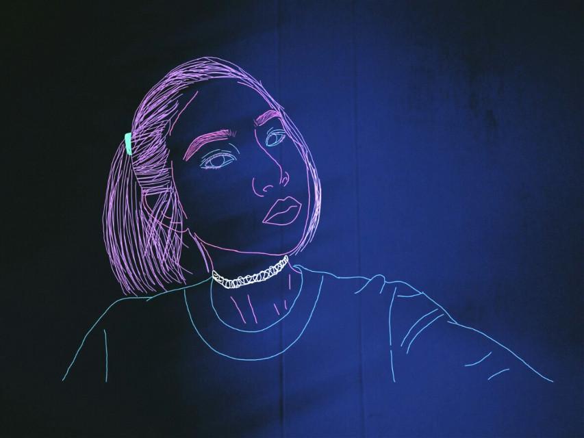 Neon  #drawing  #neon  @pa
