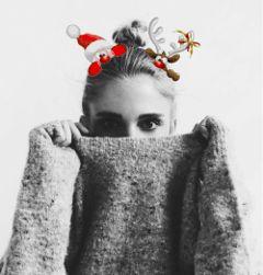 freetoedit sweater santaclaus reindeer