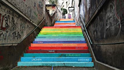 treppe bunt wuppertal heimat colorful