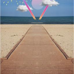 beach lakemichigan sand path summer freetoedit