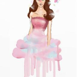 freetoedit mydrawingedit girl pink prettyinpinkremix