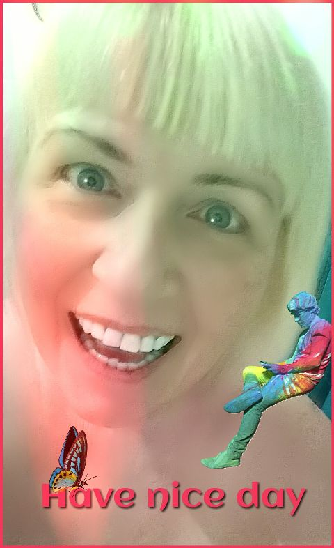 colorful me selfie blond smile day
