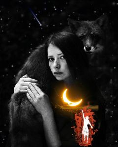 freetoedit remixed moon girl
