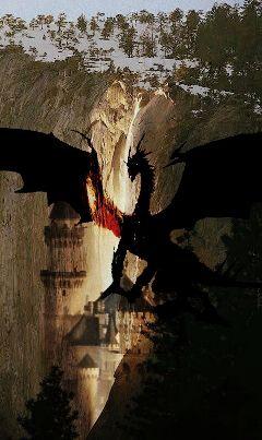 freetoedit dragon light gold castle