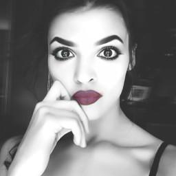 me girl eyes lips portrait freetoedit
